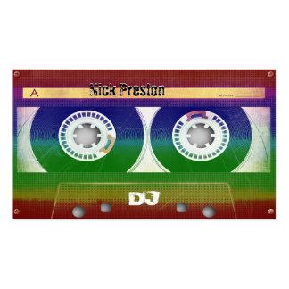 Grunge Old Cassette DJ Business Card