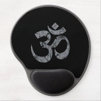 Grunge OM Symbol Spirituality Yoga Gel Mouse Pad