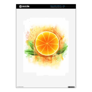 Grunge Orange design Decal For The iPad 2