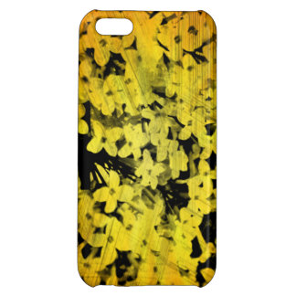 Grunge Orange Lilacs iPhone Case