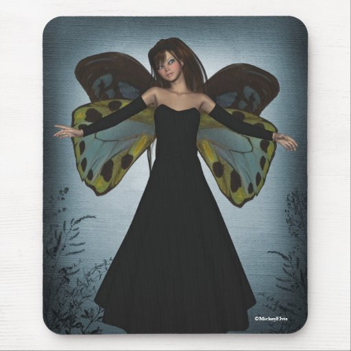 Grunge oscuro Mousepad del ángel Tapetes De Ratones