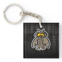 Grunge Owl Keychain