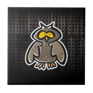 Grunge Owl Small Square Tile