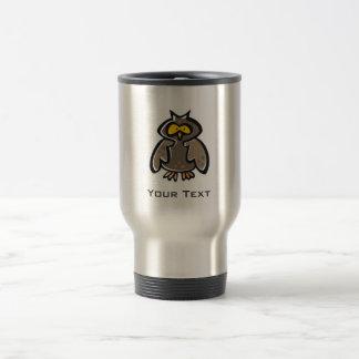 Grunge Owl Travel Mug