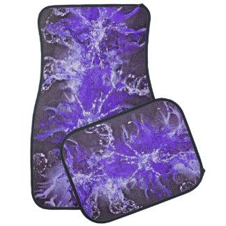 Grunge painting splatter attern - violet black car mat