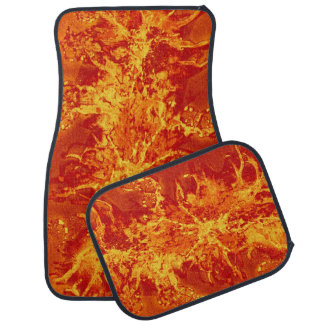 Grunge painting splatter Pattern - fire red Car Floor Mat