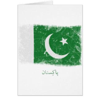 Grunge Pakistan Flag Greeting Cards