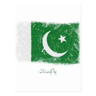 Grunge Pakistan Flag Postcard