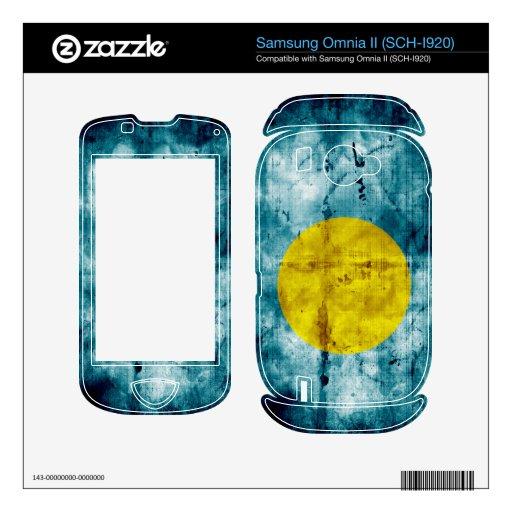 Grunge Palau Flag Samsung Omnia II Skin