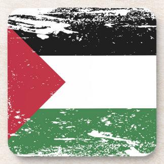 Grunge Palestine Flag Beverage Coaster