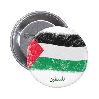 Grunge Palestine Flag Pinback Buttons