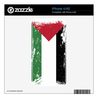 Grunge Palestine Flag Decals For The iPhone 4S