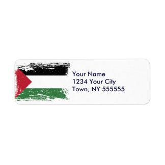 Grunge Palestine Flag Label