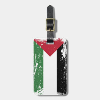 Grunge Palestine Flag Tag For Bags
