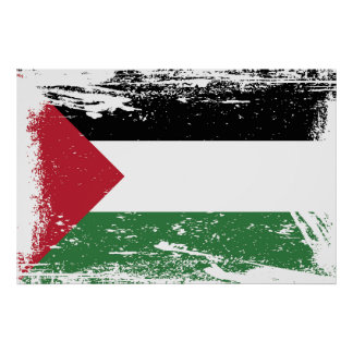 Grunge Palestine Flag Poster