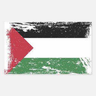 Grunge Palestine Flag Rectangle Sticker