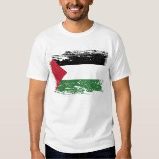 Grunge Palestine Flag T Shirt