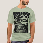 Hand shaped Grunge Panda Bear T-Shirt