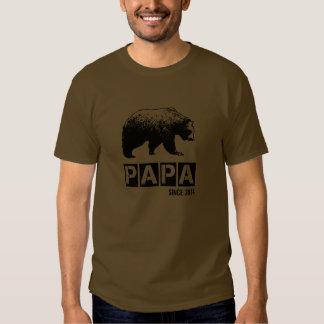 Grunge Papa Bear Since 2014, Black Shirt