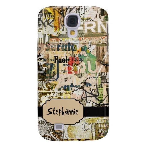 Grunge Paper Advertisin Personalized iPhone 3 Case