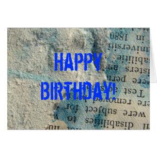 Grunge Paper, Happy Birthday! Card