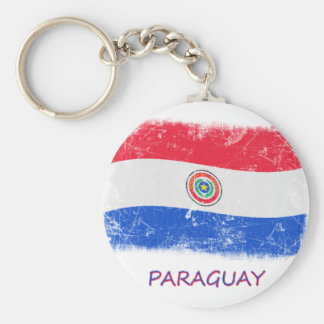 Grunge Paraguay Flag Keychains