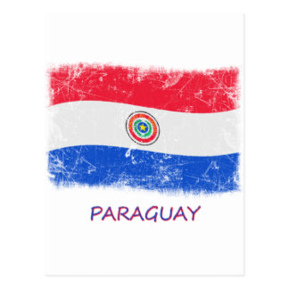 Grunge Paraguay Flag Postcard