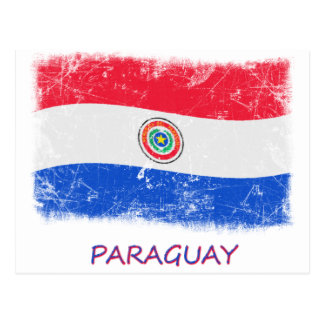 Grunge Paraguay Flag Post Card