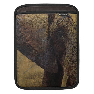 Grunge Parchment Majestic African Elephant iPad Sleeves