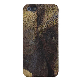 Grunge Parchment Majestic African Elephant iPhone SE/5/5s Cover
