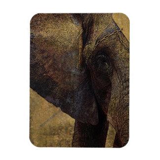 Grunge Parchment Majestic African Elephant Rectangular Photo Magnet