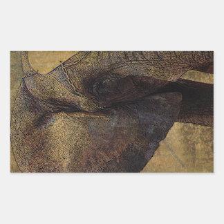 Grunge Parchment Majestic African Elephant Rectangular Sticker