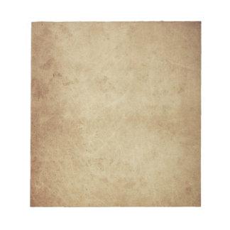 grunge parchment note pad