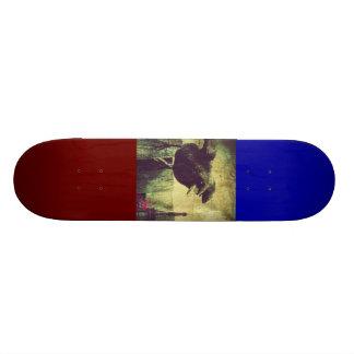 Grunge Paris Eiffel tower halloween Black Crow Skateboard Deck