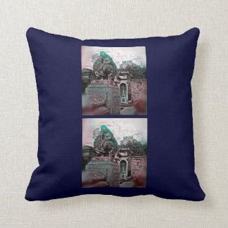 Grunge Paris Grave Throw Pillow