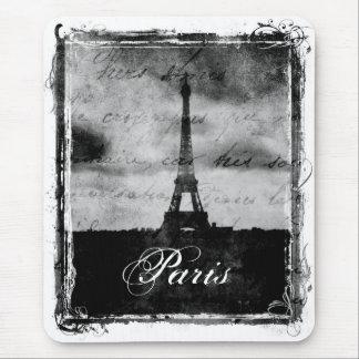 Grunge París texturizada borde Alfombrillas De Ratón