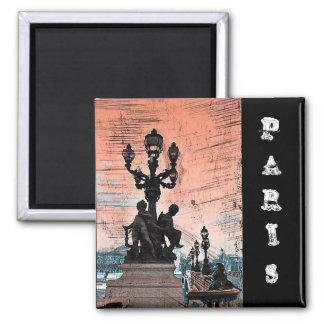 Grunge Parisan Bridge Fridge Magnet