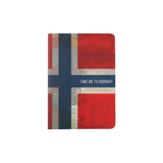 Grunge Passport Holder: Take Me To Norway! Passport Holder