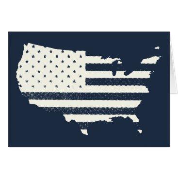 Grunge Patriotic American Flag