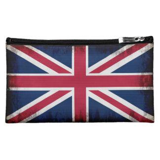 Grunge Patriotic Union Jack, UK Union Flag Cosmetic Bag