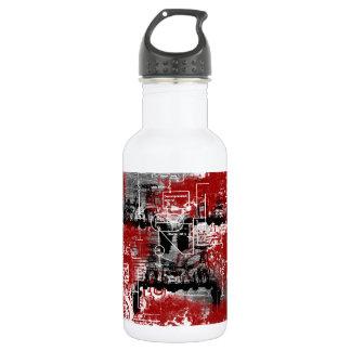 Grunge Patter 6 18oz Water Bottle