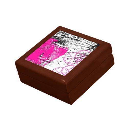 Grunge Pattern 101 Trinket Box