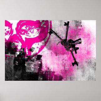 Grunge Pattern 102 Poster