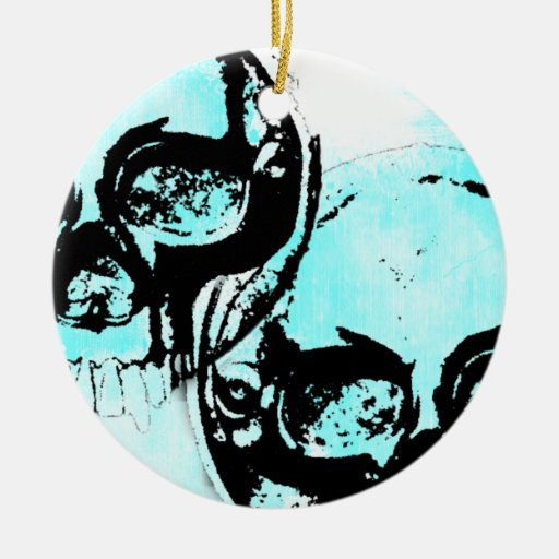 Grunge Pattern 103 Double-Sided Ceramic Round Christmas Ornament
