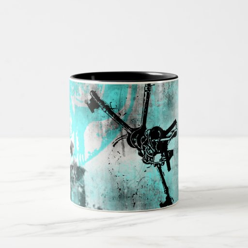 Grunge Pattern 104 Two-Tone Coffee Mug