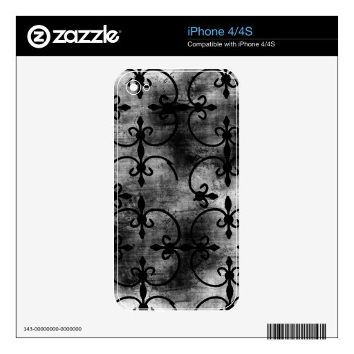 Grunge Pattern 108 Decal For The iPhone 4