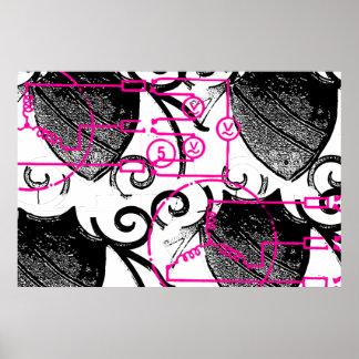 Grunge Pattern 134 Print