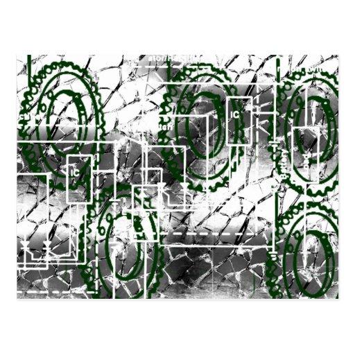 Grunge Pattern 14 Postcard