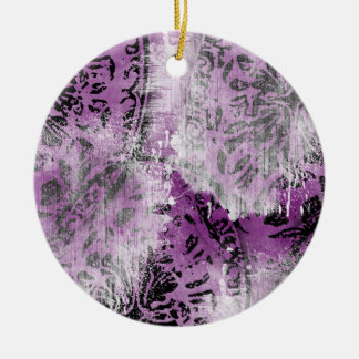 Grunge Pattern 157 Christmas Tree Ornaments