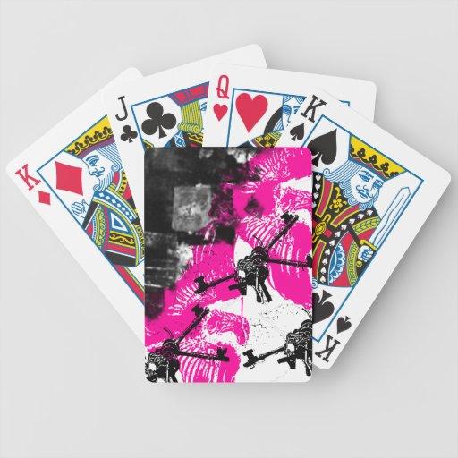 Grunge Pattern 170 Bicycle Playing Cards